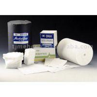Absorbent gauze, elastic bandage