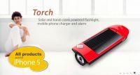 Solar Powered Hand Crank Torch