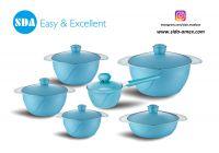 Innovative Aluminum die cast non-stick cookware set with ceramic coating die-casting