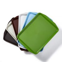 Square oblong coloful ABS plastic tableware food serving trays