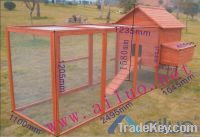 Galvanized netting  wooden chicken house