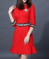 Women's V Neck Elegant Dress