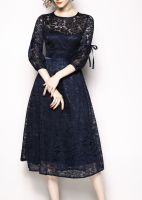 Women's half sleeve Elegant Floral lace Dress