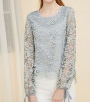 Women's Fashion autumn lace T-shirt