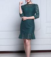 Elegant Cotton Lace Hollow Dress, Hollow Dress, Blouse Designs