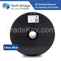 Kexcelled 1.75mm Clear blue PLA 3D Printer Filament - 1kg Spool (2.2 lbs) - Dimensional Accuracy +/- 0.05mm