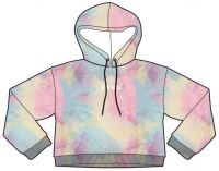 ladies hoodies sweatshirt, tie die, fashion clothing