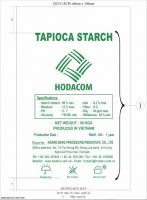 Natural Vietnam Tapioca Starch
