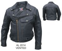 Men's Vented jacket with braid trim, pockets & full sleeve zipout line