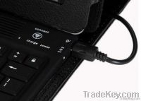 Ipad2 Smart Cover With Bluetooth Keyboard - Polyurethane - Black
