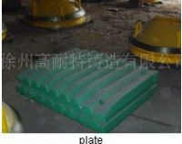 casting, jaw plate, swing jaw, hammer, cone crusher parts etc