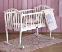White baby furniture wooden baby cribs/baby cot OEM