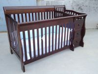 Fashion design wooden baby cribs varios color OEM