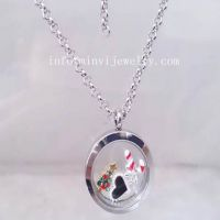 Smaller Lovely Locket Pendants jewelry Necklace 3 Mix Charms Floating Lockets Stainless Steel