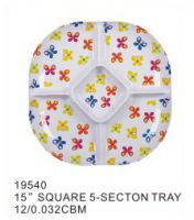 melamine plate custom melamine plate deluxe dinner plate Round melamine dessert serving plate with beautiful decal