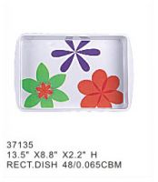 factory supply cheap rectangular melamine serving tray restaurant melamine health handled serving tray