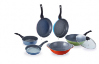 non-stick curling stone frying pan set