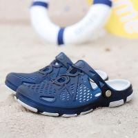 2018 Men Slippers Summer Slides Breathable Man Shoes Fahsion Flat Sandals Male Flip Flops Casual Footwear 38-45