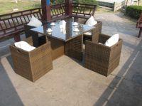 Outdoor Rattan Coffee Table Set