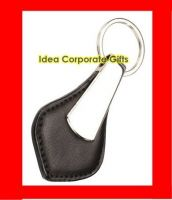 Leather Metal Keychians Promotional Rubber Keyrings