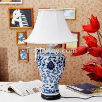 TYLP106 Hand paint Blue and White Meiping Table Lamp