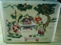 Famille-rose porcelain pillow