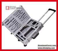 2015 Hot Sales Aluminum Barber Tool Case Travel Tool Cases Tool case with wheels