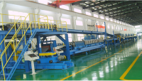 Continuous PU/EPS/ROCKWOOL Sandwich panel production line