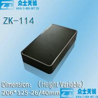 zk-114 series aluminum media player enclosure metal box shell case
