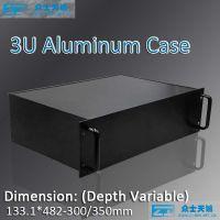 "3U/19"" 1u 2u 3u 4u 5u 6u 7u 8u-custom aluminum chassis metal enclosure box shell"