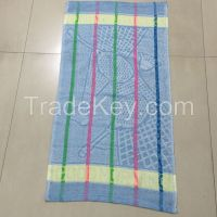 """19*38""""  65g Factory supply wholesale cheap customized 100% polyester stripe bath hand towel for Yemen market"""