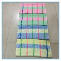 "19*38""  65g Factory supply wholesale cheap customized 100% polyester stripe bath hand towel for Yemen market"