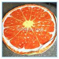 100% polyester printed vivid color cheap wholesale  round beach towel with sublimation