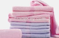 Cheap Wholesale 100% cotton solid bath towel with assorted sizes and colors