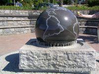 stone ball water fountain