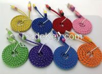 Colorful Braided cable for Android smart phone and iphone