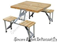 Bamboo top folding picnic table