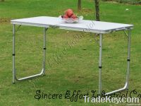 One fold picnic table
