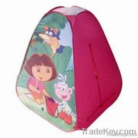 Castle child's tent, play children's tent with fiberglass pole