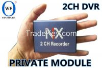 2CH SD Card DVR with IR Remote Control Record Simultaneously 128GB SD