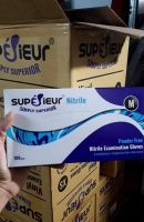 Disposable Superior Brand Blue Medical Nitrile Gloves Powder Free