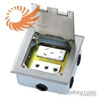 Open Type floor ground plug socket RJ11 2PIN EU US 3PIN AU [K476]