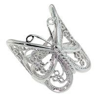Butterfly Ring - Rhodium Plated