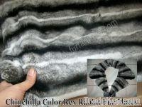 Chinchilla Color Rex Rabbit Fur Plates