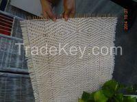 Semi Bleached Close Rattan cane webbing