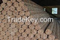 Natural rattan round core for furniture
