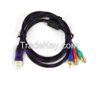 HDMI CABLE 3 RCA M/Mx3 Audio/Video Cable Gold Plated - Audio Video RCA Cable