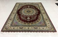 PERSIAN AND ORIENTAL HAND KNOTTED SILK  CARPET