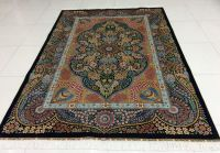 Persian hand knotted silk carpet