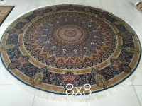 oriental Persian hand knotted silk carpet and rug